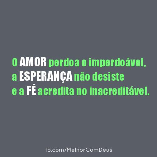 Amor, Esperanca e Fé