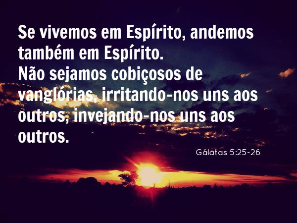Gálatas 5:25-26