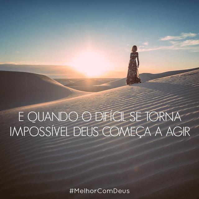 Nada é impossível para Deus