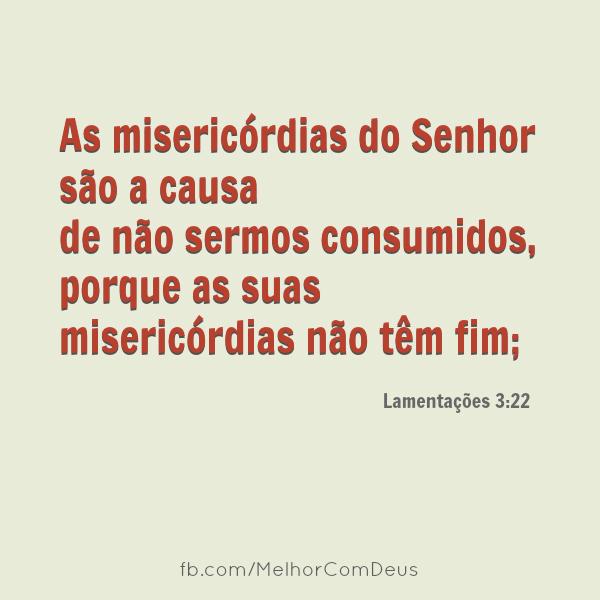 Lamentações 3:22