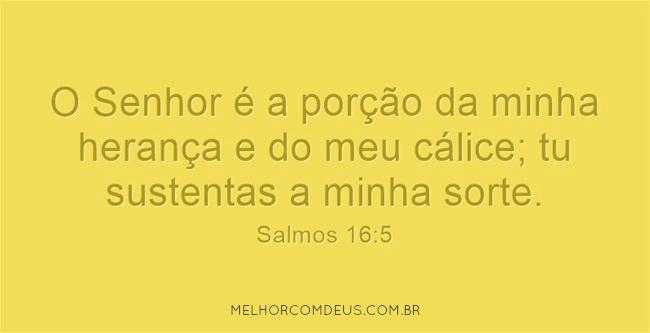 Salmos 16:5