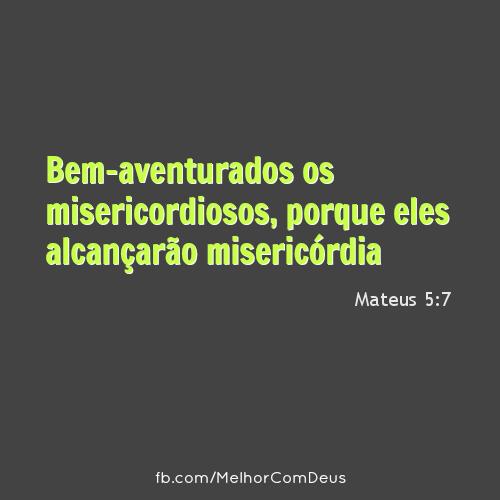 Mateus 5:7