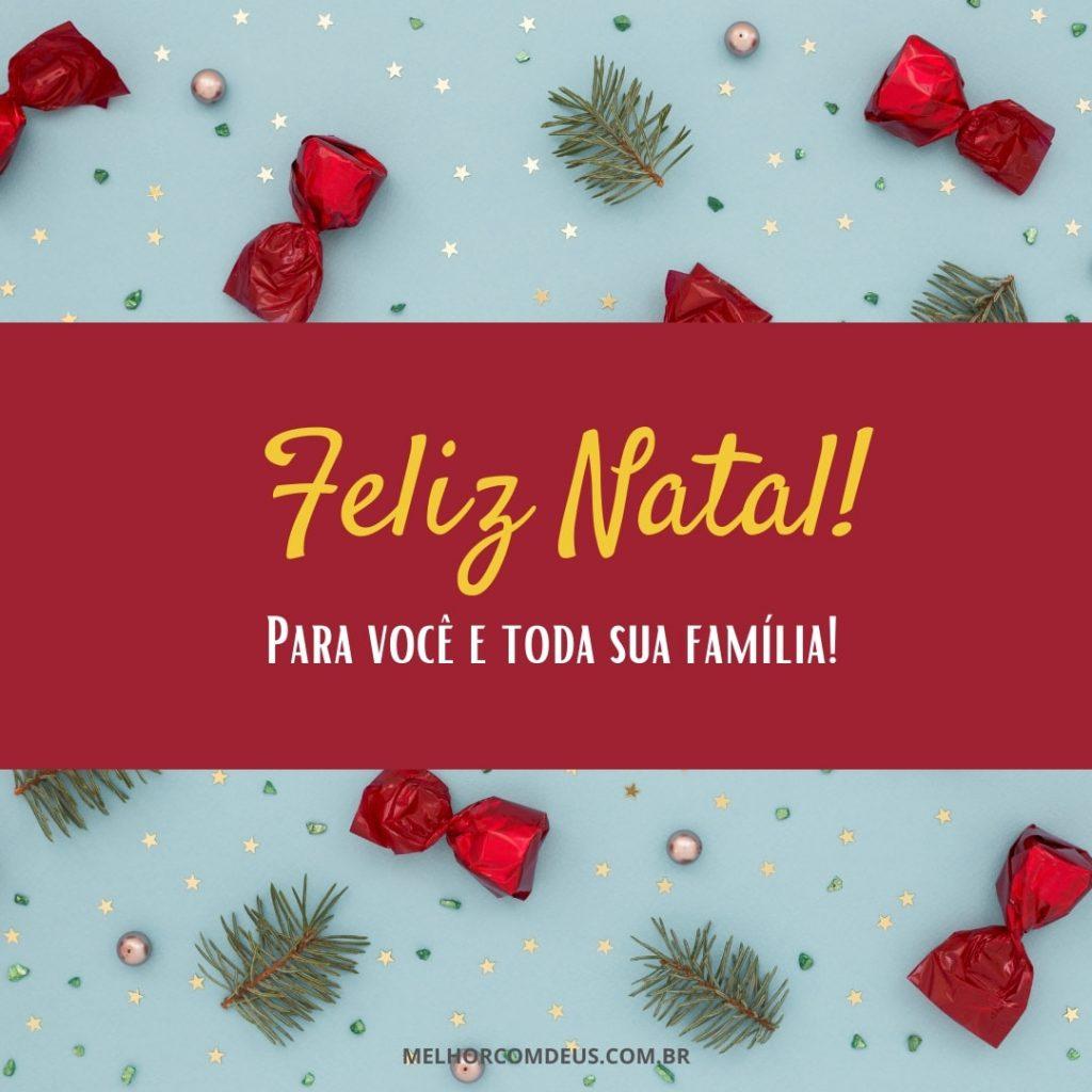 Mensagem de Natal para família